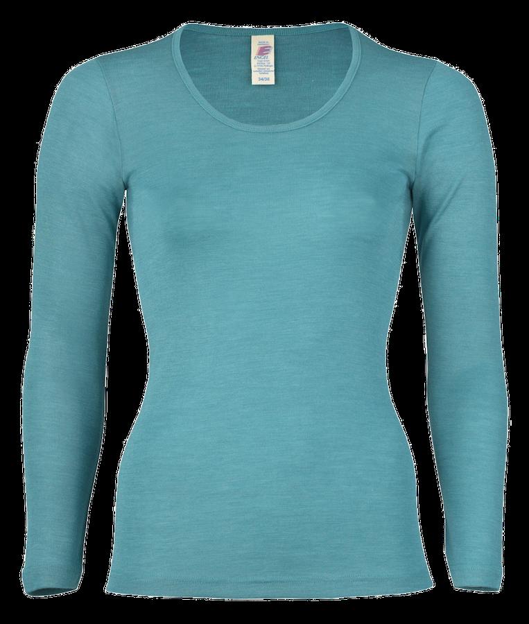 bluzka-damska-dlugi-rekaw-czarna-merino-welniana-organiczna-niebieski